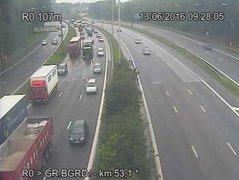 Caméra trafic Belgique - R20 (Petite ceinture de Bruxelles), tunnel Stéphanie, direction Porte de Namur