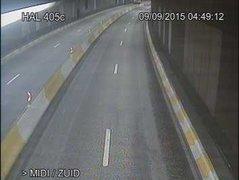 Caméra trafic Belgique - R21, tunnel Reyers-Montgomery entrée Est, Schaerbeek vers E40 (Louvain/Liège)