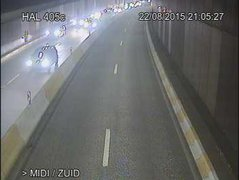 Caméra trafic Belgique - R20 (Petite ceinture de Bruxelles), tunnel Leopold II, direction Bruxelles-midi