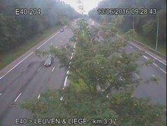 Caméra trafic Belgique - R0 (Ring de Bruxelles), Anderlecht, sortie Bruxelles-Centre, direction Halle (BK 56.5)
