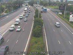 Caméra trafic Belgique - E40 (A3), Woluwe-Saint-Lambert direction Louvain