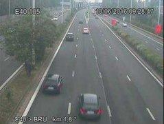 Caméra trafic Belgique - R0 (Ring de Bruxelles), Anderlecht (sortie Bruxelles-Centre) direction Halle (BK 57.3)