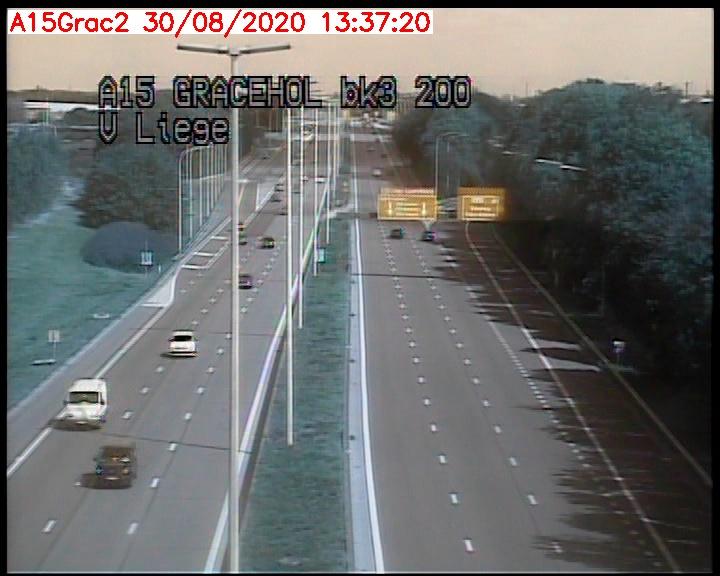 Caméra trafic Belgique - Grâce-Hollogne - E42, jonction avec A604, direction Loncin/Aéroport de Liège -  BK 3.2