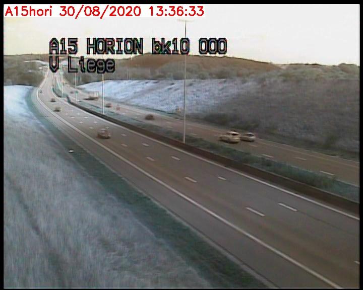 Webcam autoroute Belgique - Grâce-Hollogne - E42 direction viaduc de Horion-Hozémont  - BK 10