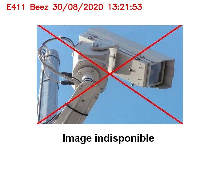 Webcam info trafic sur l'E411 à proximité de Namur au niveau du viaduc de Beez