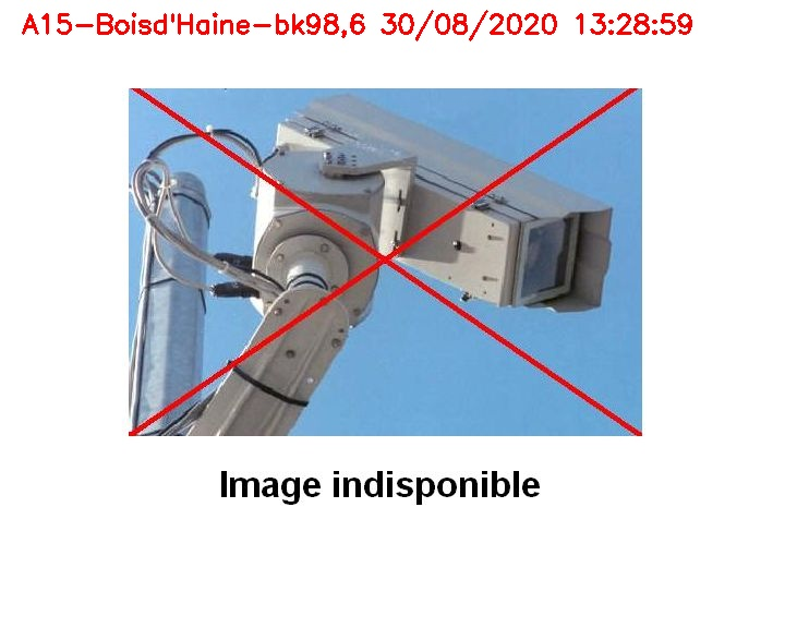 Webcam autoroute Belgique - Bois d'Haine - E42 - BK 98.6