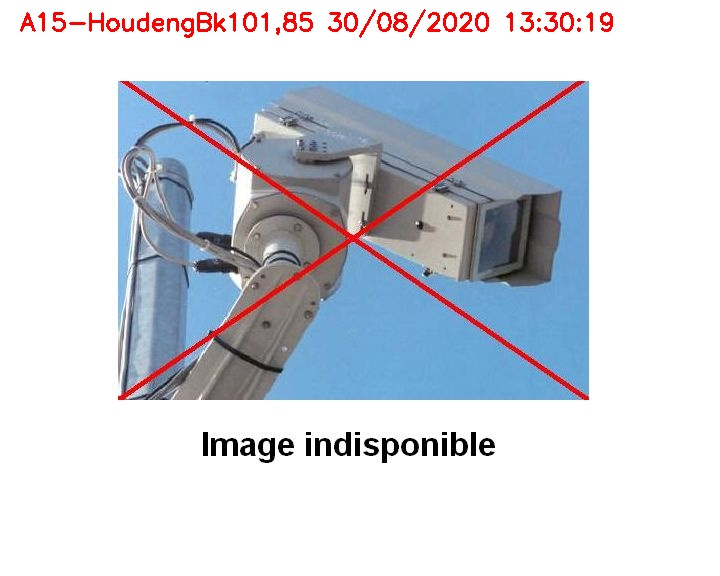 Webcam autoroute Belgique - Houdeng-Goegnies - Jonction E19/E42 direction Tournai/Mons - BK 101.85